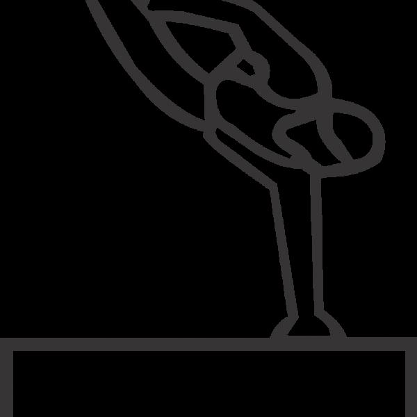 Male Gymnast On Box