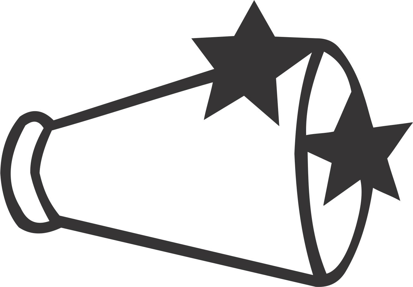 Megaphone with Stars